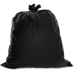"Heavy-Duty Trash Bag - Large Size - 45 gal - 39"" Width x 46"" Length x 1.50 mil (38 Micron) Thickness - Low Density - Black - 50/Box"