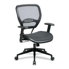 "Office Star Matrex Mesh Back Task Chair - Black Seat - Mesh Back - 5-star Base - 20.50"" Seat Width x 21"" Seat Depth - 26.8"" Width x 26.5"" Depth x 42"" Height"