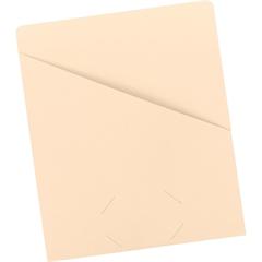 "Smead Manila Slash Jackets - Letter - 8 1/2"" x 11"" Sheet Size - 11 pt. Folder Thickness - Manila - Manila - Recycled - 25 / Pack"