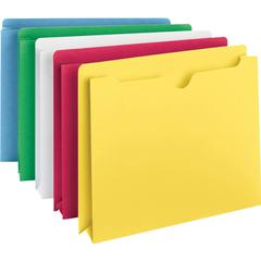 """Smead Colored File Jackets - Letter - 8 1/2"""" x 11"""" Sheet Size - 2"""" Expansion - 11 pt. Folder Thickness - Assorted - Recycled - 10 / Pack"""
