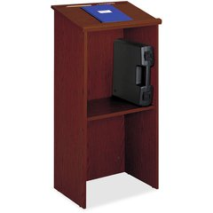 "Safco Stand-Up Lectern - 23"" Table Top Width x 15.75"" Table Top Depth - 46"" Height - Assembly Required - Cherry, Laminated"