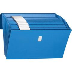 """Smead Expanding Files with Antimicrobial Product Protection - Letter - 8.5"""" x 11"""" - 0.88"""" Expansion - 1 / Box - Blue"""
