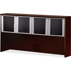 "Mayline Hutch - 71.8"" x 15"" x 38.5"" - Material: Veneer, Wood - Finish: Mahogany"