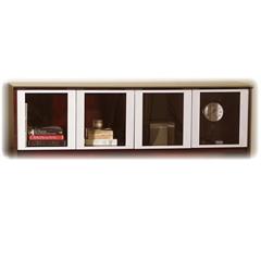 "Mayline Door for Hutch - 71.8"" Width x 15"" Depth x 38.5"" Height - Glass - Silver"