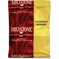 Millstone Colombian Supremo Coffee - Regular - Medium - 1.8 oz Per Bag - 24 / Carton