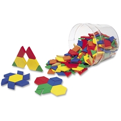 Learning Resources Pattern Block - Theme/Subject: Learning - Skill Learning: Measurement, Shape - 250 Pieces