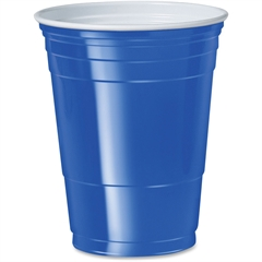 Solo Plastic Party Cup - 16 fl oz - 50 / Pack - Blue - Polystyrene - Cold Drink