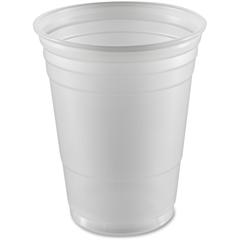 Disposable 16 oz. Plastic Cup - 16 fl oz - 1000 / Carton - Translucent White - Polystyrene - Cold Drink