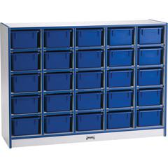 "Rainbow Accents Toddler Single Storage - 35.5"" Height x 48"" Width x 15"" Depth - Blue - Rubber - 1Each"
