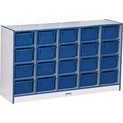 "Rainbow Accents Toddler Single Storage - 20 Compartment(s) - 29.5"" Height x 48"" Width x 15"" Depth - Blue - Rubber - 1Each"