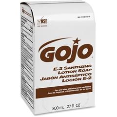 E-2 Sanitizing Lotion Soap - 27.1 fl oz (800 mL) - Hand - Amber - Fragrance-free - 12 Each