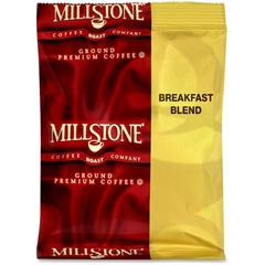 Millstone Ground Premium Coffee - Caffeinated - Breakfast Blend - 1.8 oz Per Carton - 40 CoffeeBag - 40 / Carton