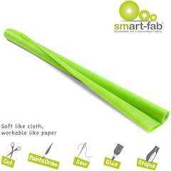 "Smart-Fab Disposable Fabric Rolls - Project, Art, Craft, Banner, Bulletin Board - 48"" x 40 ft - 1 / Roll - Apple Green - Fabric"