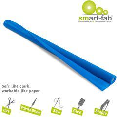 "Smart-Fab Disposable Fabric Rolls - Project, Art, Craft, Banner, Bulletin Board - 48"" x 40 ft - 1 / Roll - Blue - Fabric"