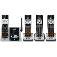 AT&T CL82413 DECT 6.0 Cordless Phone - Cordless - 1 x Phone Line - 3 x Handset - Speakerphone - Answering Machine - Hearing Aid Compatible