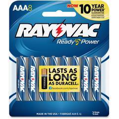 824-4F Mercury Free Alkaline Batteries, AAA 4 Pk - AAA - Alkaline - 1.5 V DC - 8 / Pack