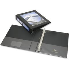 "SKILCRAFT Frame View Binders - Black, 1-1/2"" - 1 1/2"" Binder Capacity - Letter - 8 1/2"" x 11"" Sheet Size - 3 x D-Ring Fastener(s) - Internal Pocket(s) - Black - Recycled - 1 Each"