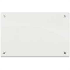 """Balt Frosted Pearl Glass Dry Erase Markerboard - 24"""" (2 ft) Width x 18"""" (1.5 ft) Height - Frosted Pearl Tempered Glass Surface - Rectangle - Wall Mount - 1 Each"""