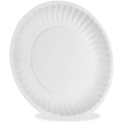 """Dixie Economical White Paper Plates - 6"""" Diameter Plate - Paper Plate - 500 Piece(s) / Carton"""