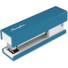 "Swingline® Fashion Stapler - 20 Sheets Capacity - 105 Staple Capacity - Half Strip - 1/4"" Staple Size - Blue"
