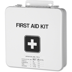 SKILCRAFT Deluxe Field First Aid Kit - 169 x Piece(s) For 10 x Individual(s) Height - Metal Case - 10 / Each