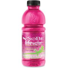 Lifewater Flavored Beverage Drink - Kiwi Strawberry Flavor - 20 fl oz - Bottle - 12 / Carton