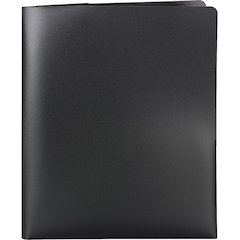 "Smead Poly Lockit® Two-Pocket Folders - Letter - 8 1/2"" x 11"" Sheet Size - 100 Sheet Capacity - 2 Pocket(s) - Polypropylene - Black - 25 / Box"