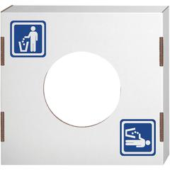 Fellowes Waste and Recycling Bin Lids - Waste - Rectangular - Corrugated Paper - 10 / Carton - White