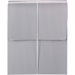 """Smead Organized Up® Vertical Wallet - Letter - 8 1/2"""" x 11"""" Sheet Size - 3 1/2"""" Expansion - 1 Pocket(s) - Cool Gray - 5 / Box"""