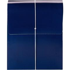 "Smead Organized Up® Vertical Wallet - Letter - 8 1/2"" x 11"" Sheet Size - 3 1/2"" Expansion - 1 Pocket(s) - Monaco Blue - 5 / Box"