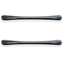 "Laminate Drawer Traditional Pulls - Transitional - 4.5"" Width x 0.4"" Depth x 1"" Height - Aluminum Alloy - Black"