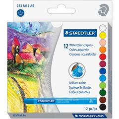 Staedtler WaterColor Crayons - Assorted - 12 / Pack
