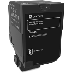Lexmark Unison Original Toner Cartridge - Black - Laser - High Yield - 25000 Page