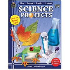 Teacher Created Resources Plan-Develop-Display-Present Science Projects Education Printed Book for Science - Book - 160 Pages