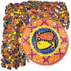 "Roylco Mosaic Squares - 10000 Piece(s) - 0.4"" x 0.4"" - 10 / Pack - Assorted"