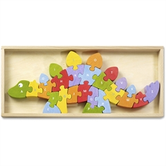 BeginAgain Jigsaw Puzzle - Theme/Subject: Learning, Fun - Skill Learning: Problem Solving, Fine Motor, Story Telling, Uppercase Letters, Lowercase Letters - 26 Pieces