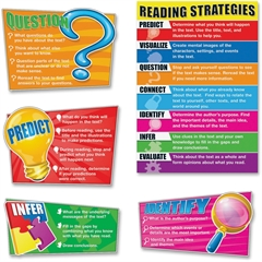 Bulletin Board Set - Theme/Subject: Learning - Skill Learning: Reading, Strategy - 8 Pieces - 5-11 Year
