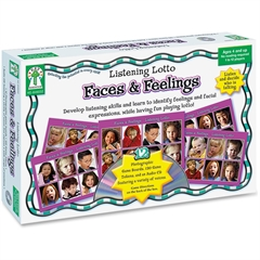 Grades Pre K-1 Faces/Feelings Board Game - Educational - 1 to 12 Players