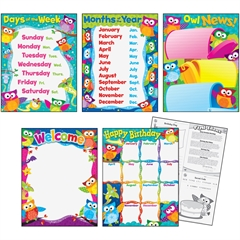 Trend Owl-Stars! Educational Chart - Theme/Subject: Learning - Skill Learning: Birthday, Week, Day, Month - 5 Pieces