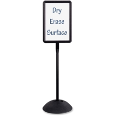 """Safco WriteWay Directional Sign - 1 Each - 18"""" Width x 65"""" Height - Rectangular Shape - Both Sides Display, Magnetic, Durable - Steel - Black"""