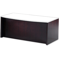"Mayline Corsica Reception Desk Base - 72"" x 36"" x 29.5"" - Beveled Edge - Material: Veneer, Wood - Finish: Mahogany"