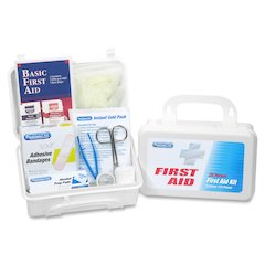 """PhysiciansCare 25 Person First Aid Kit - 113 x Piece(s) For 25 x Individual(s) - 5.5"""" Height x 8"""" Width x 2.8"""" Depth - Plastic Case - 1 Each"""