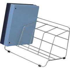 "Fellowes Catalog Rack - 4 Compartment(s) - 8"" Height x 16.5"" Width x 10"" Depth - Desktop - Silver - Steel - 1Each"