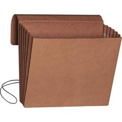 """Smead Redrope Expanding Wallets with Elastic Cord - 9 1/2"""" x 11 3/4"""" Sheet Size - 5 1/4"""" Expansion - Redrope - Redrope - Recycled - 10 / Box"""