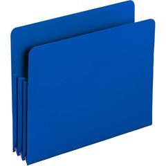 """Smead Poly File Pockets - Letter - 8 1/2"""" x 11"""" Sheet Size - 3 1/2"""" Expansion - Polypropylene - Blue - 4 / Box"""
