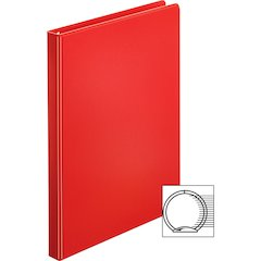 "Sparco Vinyl Ring Binders - 1/2"" Binder Capacity - Letter - 8 1/2"" x 11"" Sheet Size - 3 x Round Ring Fastener(s) - 2 Inside Front & Back Pocket(s) - Vinyl - Red - 1.08 lb - 1 Each"
