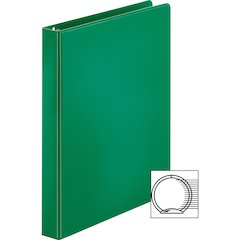 "Sparco Vinyl Ring Binders - 1"" Binder Capacity - Letter - 8 1/2"" x 11"" Sheet Size - 3 x Round Ring Fastener(s) - 2 Inside Front & Back Pocket(s) - Vinyl - Green - 1.25 lb - 1 Each"