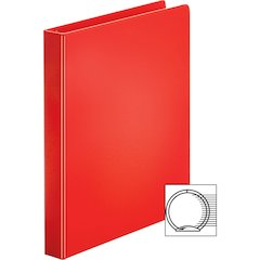 "Sparco Vinyl Ring Binders - 1"" Binder Capacity - Letter - 8 1/2"" x 11"" Sheet Size - 3 x Round Ring Fastener(s) - 2 Inside Front & Back Pocket(s) - Vinyl - Red - 1 Each"