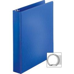 "Sparco Vinyl Ring Binders - 1 1/2"" Binder Capacity - Letter - 8 1/2"" x 11"" Sheet Size - 3 x Round Ring Fastener(s) - 2 Inside Front & Back Pocket(s) - Vinyl - Dark Blue - 1.42 lb - 1 Each"
