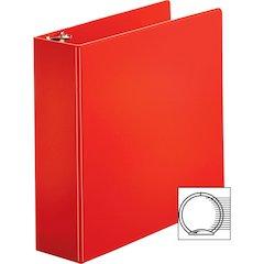 "Sparco Vinyl Ring Binders - 3"" Binder Capacity - Letter - 8 1/2"" x 11"" Sheet Size - 3 x Round Ring Fastener(s) - 2 Inside Front & Back Pocket(s) - Vinyl - Red - 2.33 lb - 1 Each"